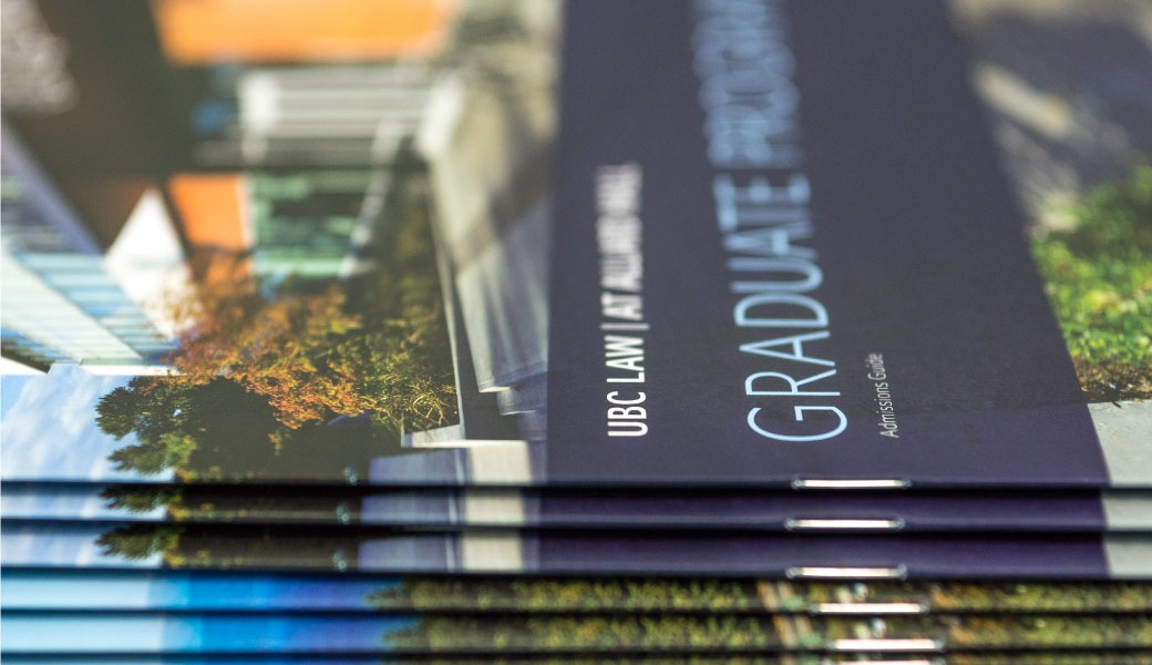 Recently Completed: UBC Law Admissions Brochures